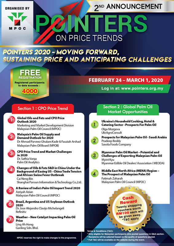 POINTERS 2020 - MOVING FOWARD, SUSTAINING PRICE AND ANTICIPATING CHALLENGES